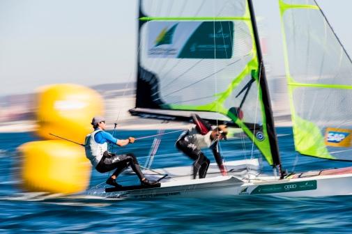 2016 49er European Championship ©Pedro Martinez / Sailing Energy